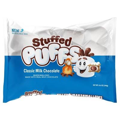 Stuffed Puffs Classic Milk Chocolate Filled Marshmallows - 8.6oz