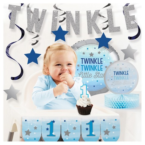 One Little Star Boy 1st Birthday Party Decorations Kit