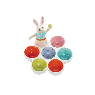 C&F Home 6 Egg Cups with Bunny