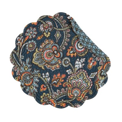 C&F Home Middleton Cotton Quilted Round Reversible Placemat Set of 6