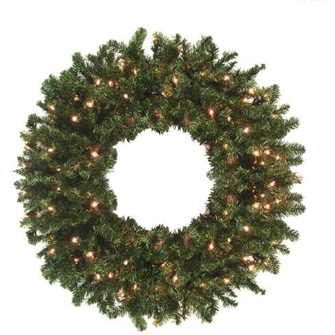 """Northlight 144"""" Prelit High Sierra Pine Commercial Artificial Christmas Wreath - Clear Lights - image 1 of 1"""