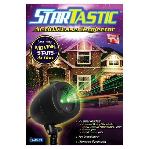 As Seen on TV® StarTastic Action Laser Projector with 3 Laser Modes - image 1 of 5