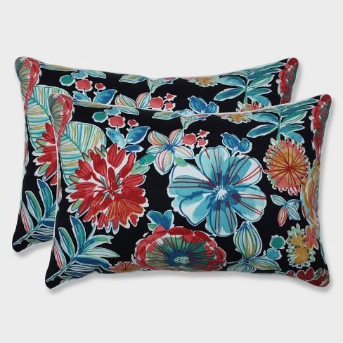 2pk Oversize Colsen Noir Rectangular Throw Pillows Black - Pillow Perfect - image 1 of 1