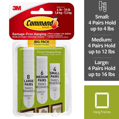 Command Assorted Picture Hanging Strips Big Pack 8 Sets Large 5
