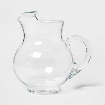 90.6oz Glass Round Pitcher with Handle - Threshold™