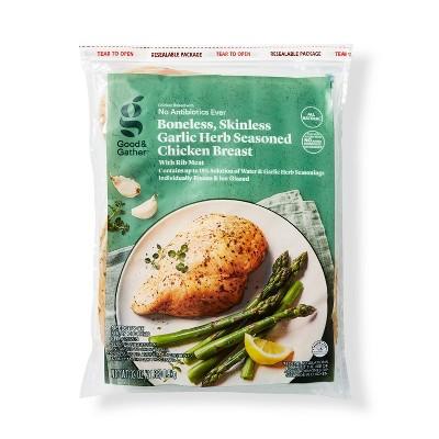 Boneless & Skinless Garlic Herb Seasoned Chicken Breast - Frozen - 2lbs - Good & Gather™
