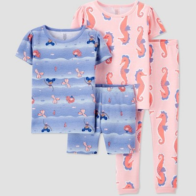 Toddler Girls' 4pc Seashore Mermaid Pajama Set - Just One You® made by carter's