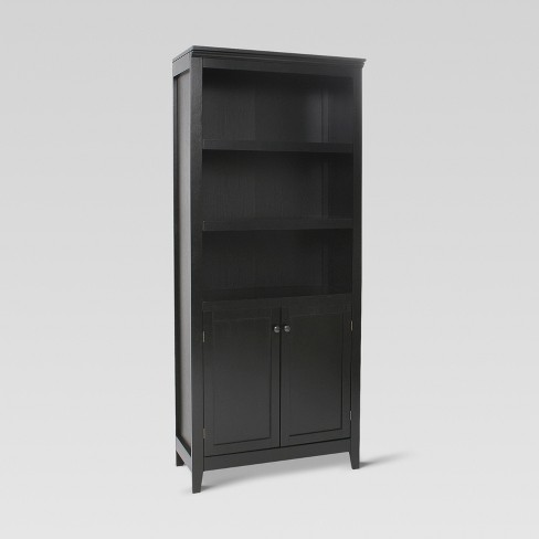 72 Carson 5 Shelf Bookcase With Doors Threshold Target