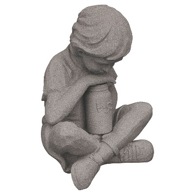 "Emsco 21"" Resin Natural Boy Statuary - Granite"