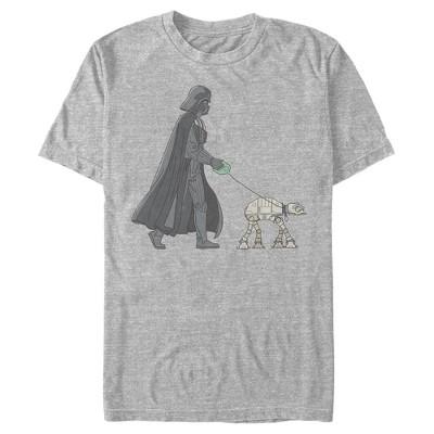 Men's Star Wars Darth Vader AT-AT Walking the Dog T-Shirt