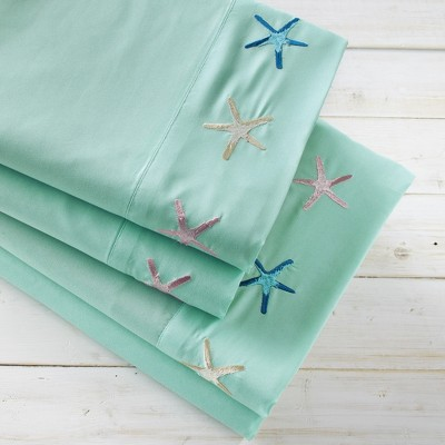 Lakeside Nautical Driftwood Bed Sheet Set with Pillowcases - 4 Pieces