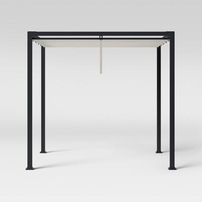 Fairmont 8' X 8' Roman Shade Perogla - Black - Threshold™