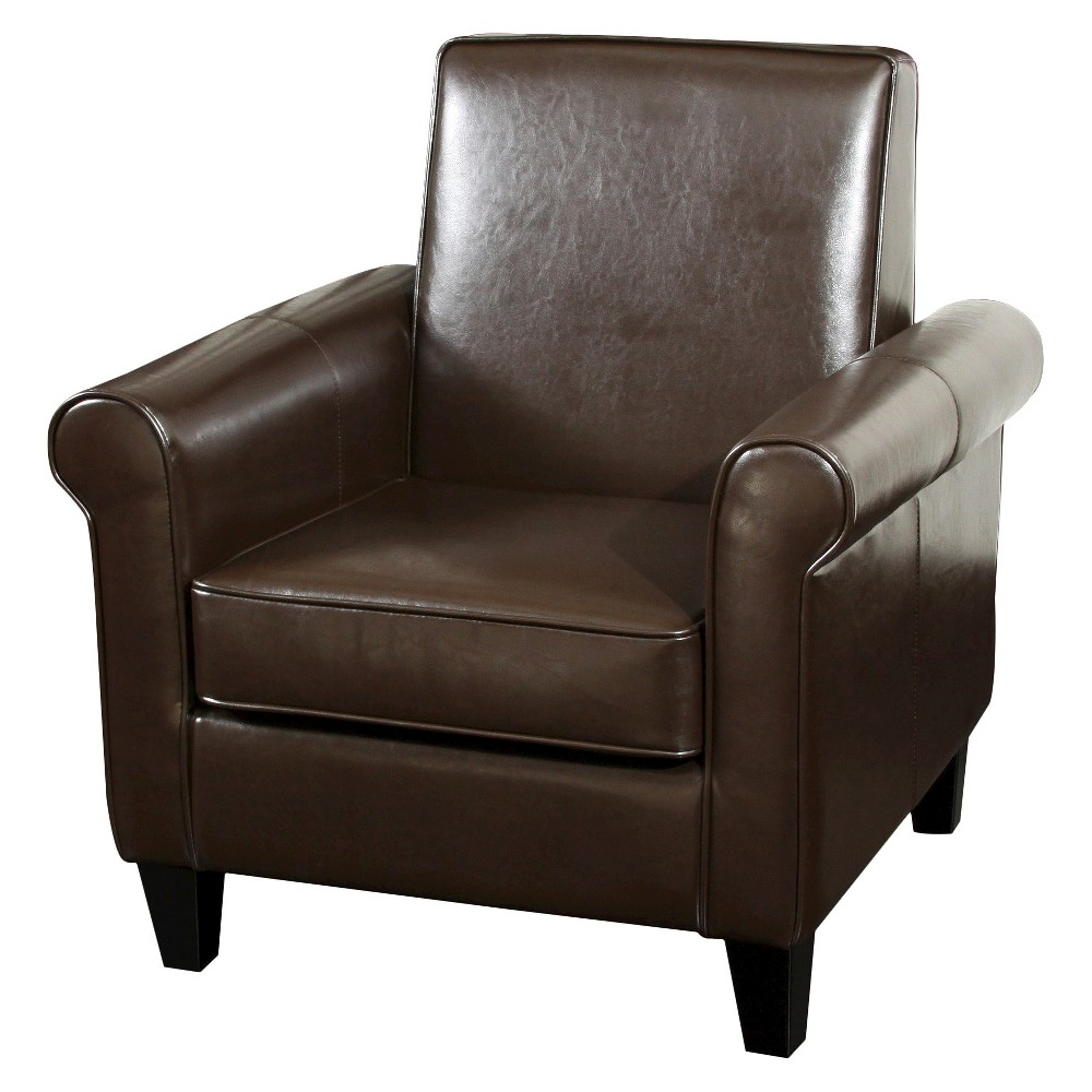 Freemont Bonded Leather Club Chair - Brown