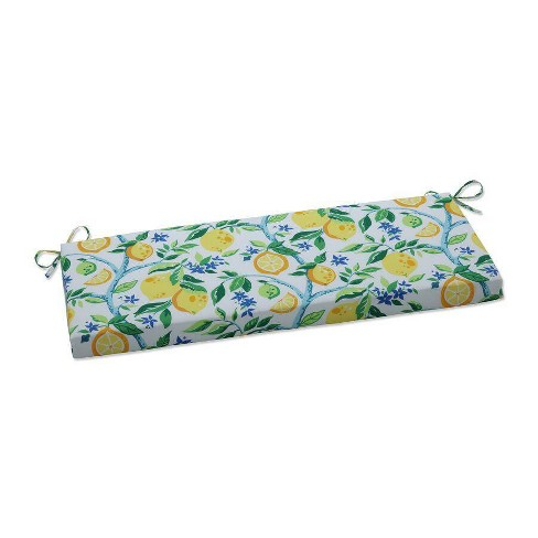"""45"""" x 18"""" Outdoor/Indoor Bench Cushion Lemon Tree Yellow - Pillow Perfect - image 1 of 1"""