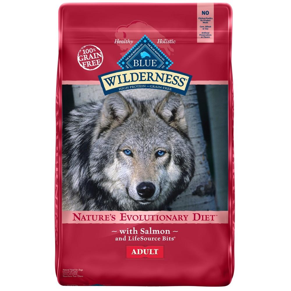 Blue Buffalo Wilderness 100% Grain-Free Salmon Adult Dry Dog Food - 11lb