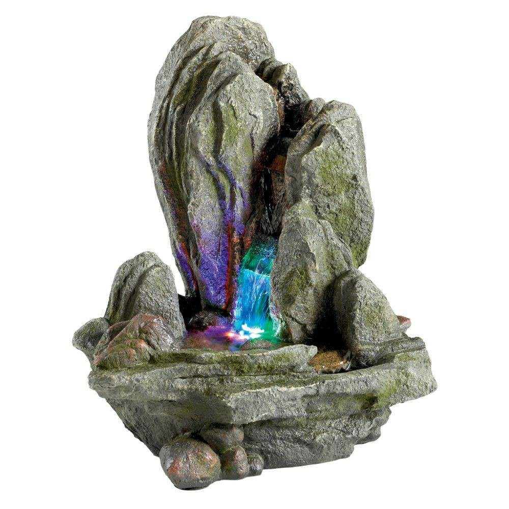 Image of Boulder Falls Cascading Tabletop Fountain - Acorn Hollow