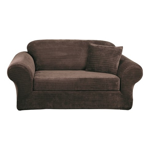 Stretch Royal Diamond 2pc Sofa Slipcover - Sure Fit - image 1 of 3