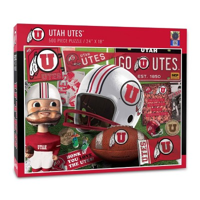 NCAA Utah Utes Throwback Puzzle 500pc