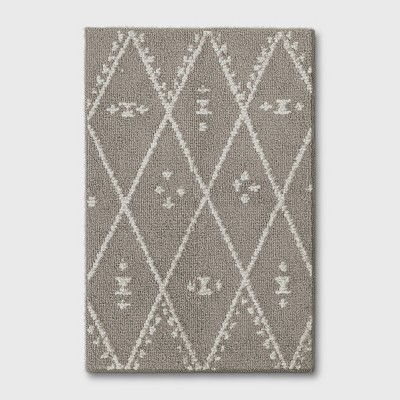 2'X3' Diamond Woven Accent Rugs Gray - Project 62™