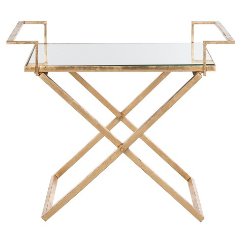 Pierre Accent Table - Gold / Mirror - Safavieh® - image 1 of 3