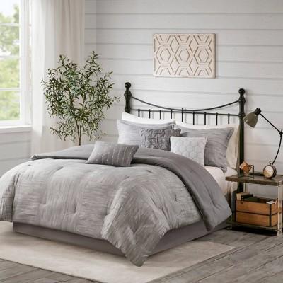 Kelan 7pc Printed Seersucker Comforter Set