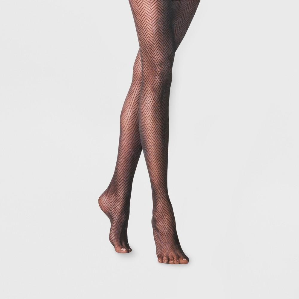 Women's Clean Herringbone - A New Day Black M/L