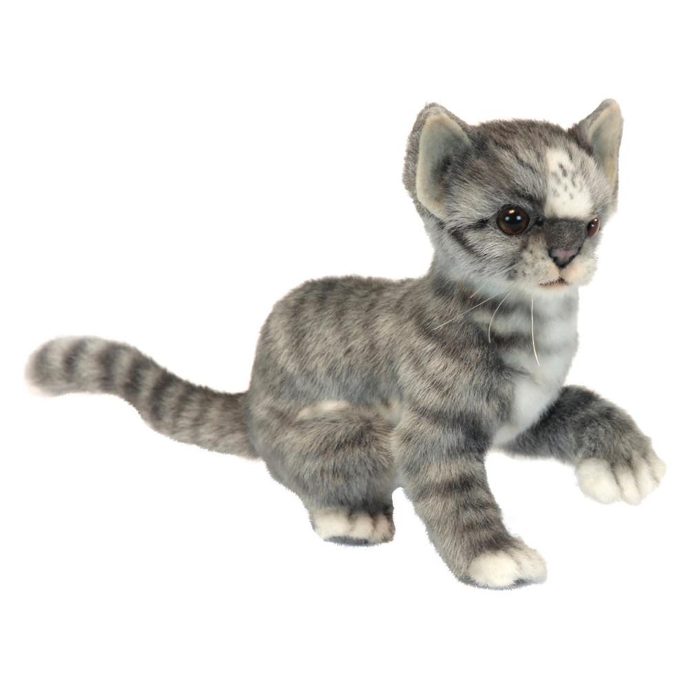 Hansa Kitten Plush Toy- Gray/White