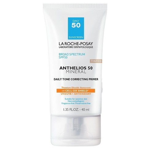 La Roche-Posay Anthelios Tinted Mineral Face Primer with Sunscreen - SPF 50 - 1.35 fl oz - image 1 of 3