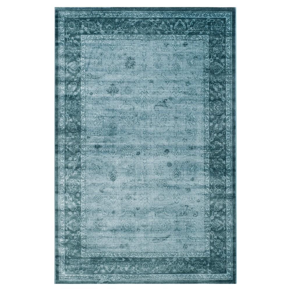 Lowenna Accent Rug - Light Blue/Dark Blue (4'X5'7) - Safavieh