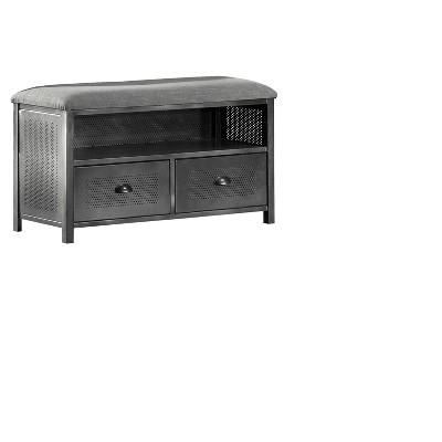 Urban Quarters Metal End - of - Bed Bench - Black Steel - Hillsdale Furniture