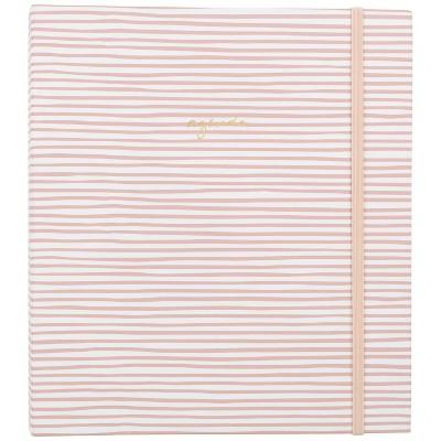 "2021-22 Academic Planner 8.75"" x 6.875"" Concealed Wire Weekly/Monthly Pink Stripe - Sugar Paper™"