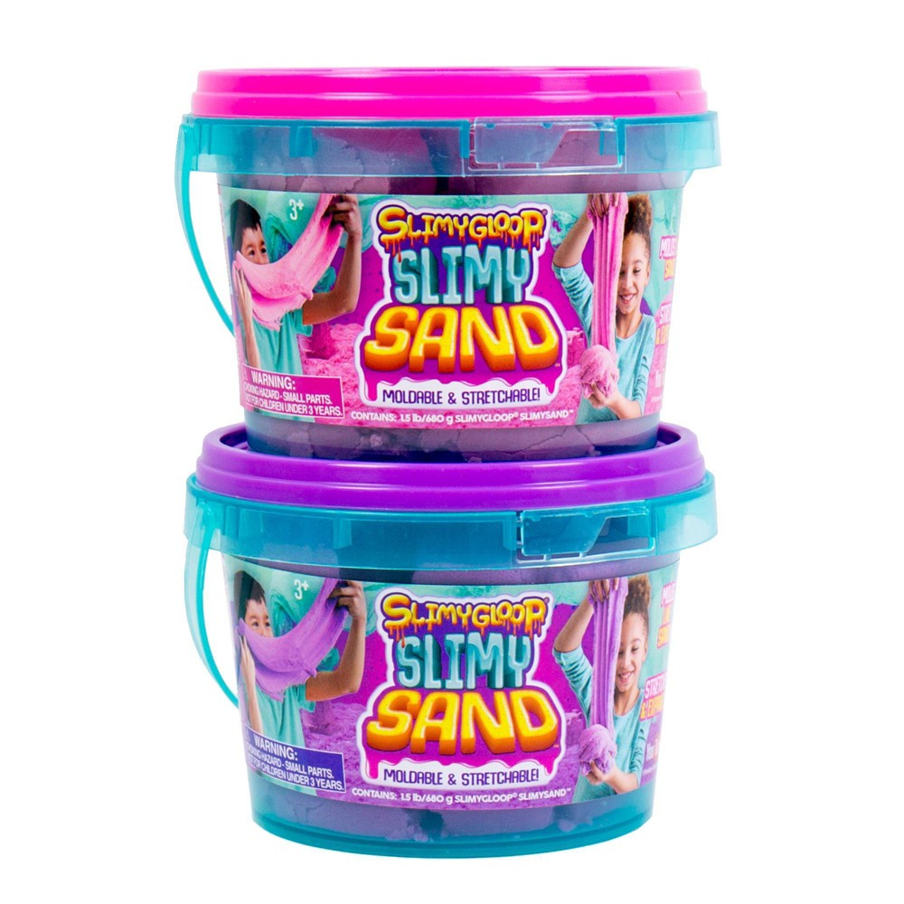 Image of SlimyGloop SlimySand 2pk 1.5lb Bucket - Pink/Purple