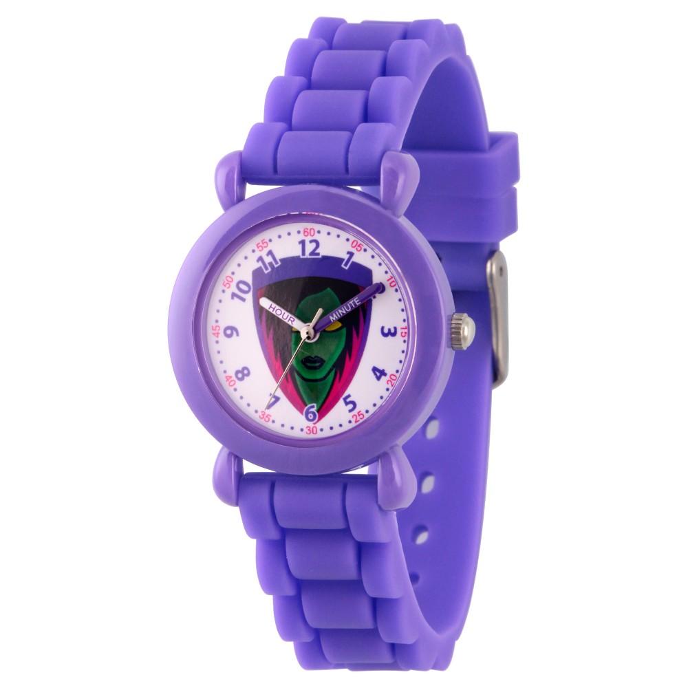 Image of Girls' Marvel Guardians Of The Galaxy Evergreen Gamora Plastic Time Teacher Watch - Purple