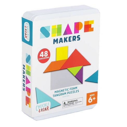 Chuckle & Roar Shape Makers  - Magnetic Foam Tangrams Game - image 1 of 4