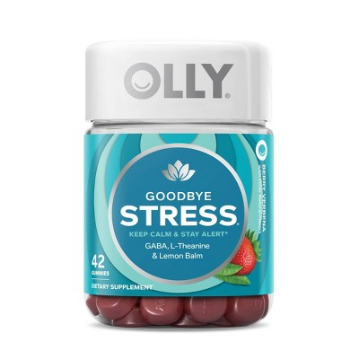 OLLY Goodbye Stress Supplement Gummies - Berry Verbena - 42ct