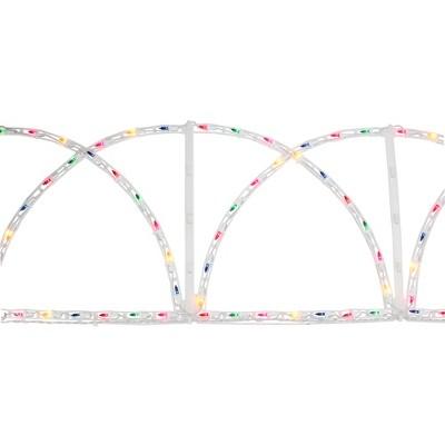 J. Hofert Co 7.5' Lighted White Christmas Pathway Fence - Multi-Color Lights