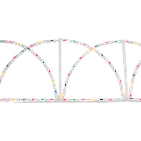 J. Hofert Co 7.5' Lighted White Christmas Pathway Fence - Multi-Color Lights - image 1 of 5