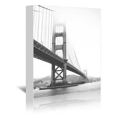 Americanflat Golden Gate Black And White by Tanya Shumkina Wrapped Canvas