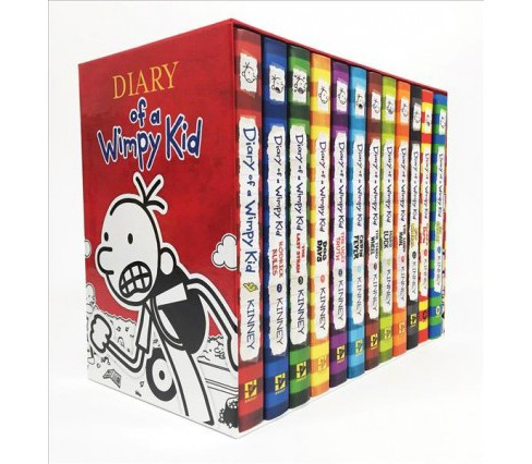 Diary of a Wimpy Kid Box of Books -  (Diary of a Wimpy Kid) by Jeff Kinney (Hardcover) - image 1 of 1