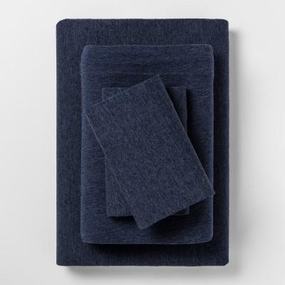 Jesey Sheet Sets (Queen)Heather Navy - Room Essentials™