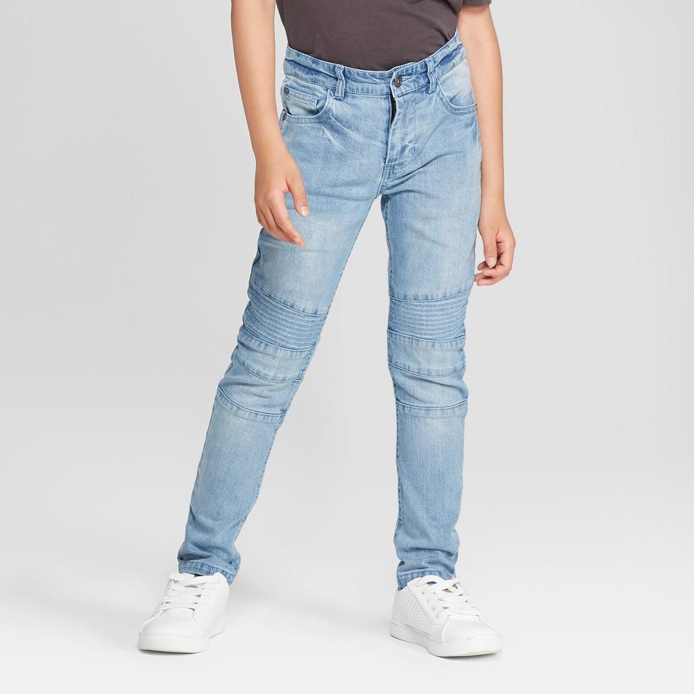 Boys' Moto Woven Jeans - art class Light Blue 18 Husky