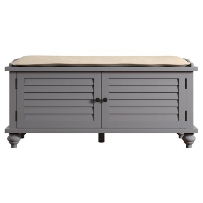 Jocelyn Cushioned Top Entry Way Bench With Storage - Inspire Q®