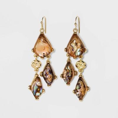 Abalone Dangle Drop Earrings - A New Day™