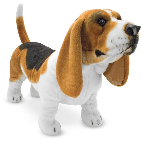 Melissa Doug Giant Basset Hound Lifelike Stuffed Animal Dog