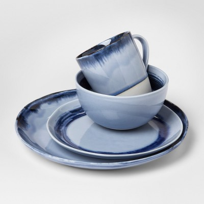 Valetta Porcelain 16pc Dinnerware Set Blue - Project 62™
