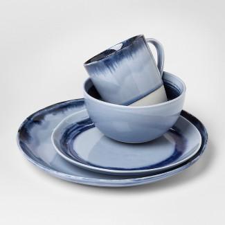 Valetta Porcelain 16pc Dinnerware Set Blue - Project 62™