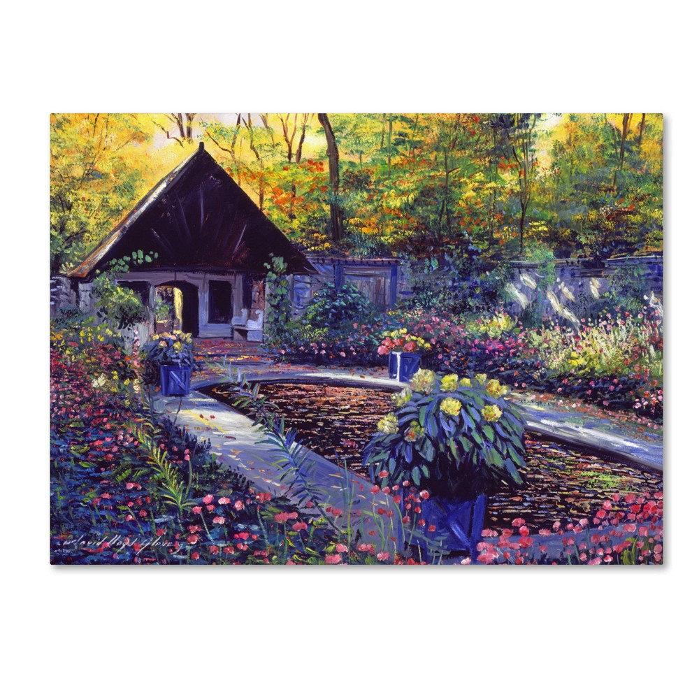 24 34 X 32 34 Blue Garden Impression By David Lloyd Glover Trademark Fine Art