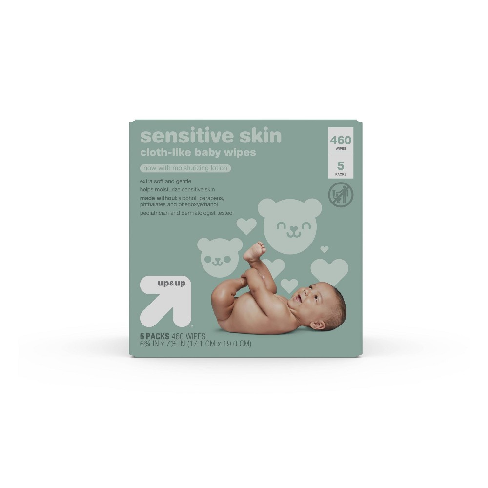 Sensitive Skin Baby Wipes 5pk 460ct Total Up 38 Up 8482