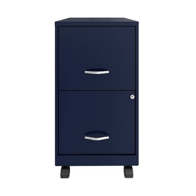Mobile Smart Vertical File Cabinet Navy - Space Solutions