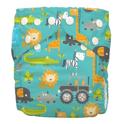 Charlie Banana All-in-One Reusable Diaper 1 pack, One Size - Gone Safari